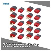 10 Pasang Konektor Amass TPlug T plug Dean Connector Male Female