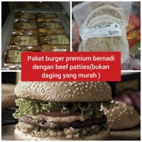 paket roti burger wijen bernadi + daging pattys