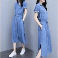 damai fashion jakarta - baju long DRESS wanita RATIH - konveksi tanah