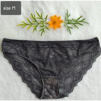 Celana Dalam Brukat Cantik Kualitas Export (Cutting Label) M, L, XL