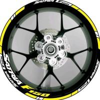 Stiker List Velg Motor Wheels Sticker Suzuki Satria F150 Yellow Fluo