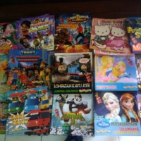 buku cerita anak full colour frozen sofia thomas tayo ipin upin barbie