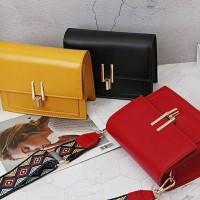 Tas wanita cewek branded selempang slingbag import strap rainbow murah