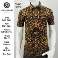 Baju Batik Premium Lengan Pendek Full katun 50s | Luigi Riccio