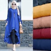 Tunik Cinta (Bahan Balotelli Fit to XL)- Baju Tunik Wanita Muslimah -