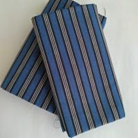 Kain Batik Tenun Lurik - Biru grs Putih 3