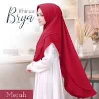 Jilbab Hijab Khimar Syari Ceruti Sifon Kancing Brya Terbaru