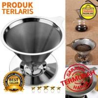 Alat Filter Penyaring Kopi Double Layer Cone Coffee Filter - V60