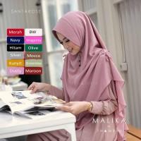 Jilbab Khimar Malika Syari Instan Hijab Terbaru 2 Layer Serut Jumbo