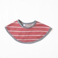 Maison Elmesa Bib - Poppy Red Stripe