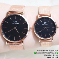 Jam tangan couple rantai pasir grosir ecer murah D.W harga sepasang