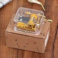 Music Box Unik Kotak Musik Wooden Handcraft Untuk Hadiah Ulang Tahun
