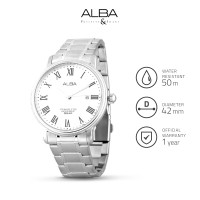 Jam Tangan Analog Stainless Steel Pria Alba As9745 Original