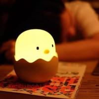 S008 LAMPU TIDUR ANAK LED 2 WATT MODEL EGG SHELL BEDROOM LIGHT