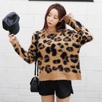 wanita fashion kaos panjang leopard