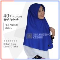 Jilbab Instan Pet Antem L Hijab Kaos Bergo Syari Khimar Grosir Kerudun