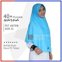 Jilbab Instan Pet Antem XL Hijab Kaos Bergo Syari Khimar Grosir Kerudu