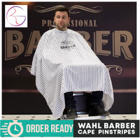 Wahl Barber Cape Pinstripe 100%Original