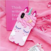 Case Silicone Samsung J4 PLUS 3D Unicorn Eyelashes
