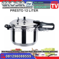 Panci Presto paling bagus merk trisonic pressure cooker 12 liter besar