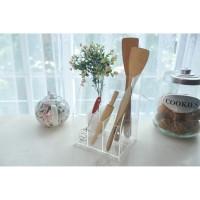 Tempat Sendok Garpu Akrilik / Kitchen Organizer Akrilik