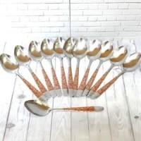 AY Sendok Makan Tebal Stainless Set 12 Pcs Motif Batik