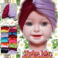 turban bayi simpul 2 warna