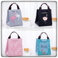 TOTE BAG FLAMINGO lunch bag tas bekal