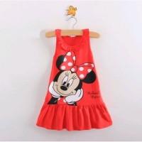 Baju Dress anak motif mickey mouse untuk usia 1 sampai 5 Tahun