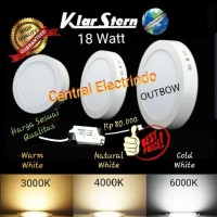 Lampu Downlight LED Panel 18W 18 W 18Watt Outbow Bulat KlarStern. - Cold White
