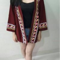 Harazuka Maroon MS Cardigan TAMPIL CANTIK DENGAN SEDERHANA TERMURAH