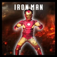 Kostum Cosplay Ironman Anak Laki-Laki Cowok