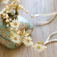 headpiece bunga / headpiece jilbab hiasan sanggul rambut pengantin 01