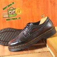 CLASSIC OXFORD WINGTIP BROGUE BRUSH OFF sepatu formal pria kulit asli - BURGUNDY, 39