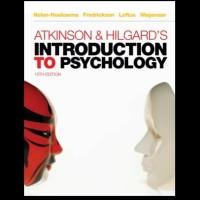 ATKINSON HILGARDS INTRODUCTION TO PSYCHOLOGY 15TH EDITION NOLEN HOEKSA