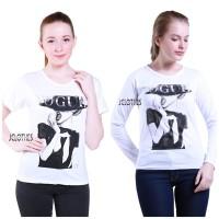 TUMBLR TEE Kaos Wanita T-Shirt Baju Katun Baju Cewek Vogue