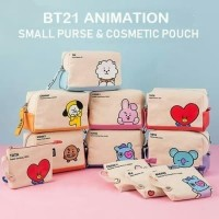 Tas kosmetik BT21 animation / cosmetics pouch
