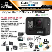 GOPRO HERO 7 BLACK PAKET BONUS 11 ITEM - GOPRO HERO7 BLACK