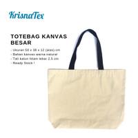 Tote Bag Kanvas Besar ( Tas Belanja Canvas Cotton Polos )