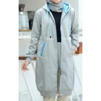 Jaket muslimah Hijacket Basic Grey size XL original