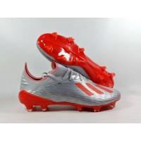 Sepatu Bola X19.1 Metalic Silver / HI-RES RED FG Replika Impor