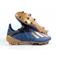 Sepatu Bola X19.1 Enner Game Pack Blue / Gold FG Replika Impor