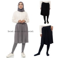 Skirt Rok Legging Wudhu Super Flare Rayon Spandek Premium Real Picture