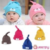 Topi Kupluk Bayi Motif Binatang Lucu, Bahan Katun Lembut Tidak Panas