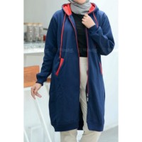 Jaket muslimah Hijacket Basic Navy all size M fit to L original