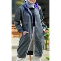 Jaket muslimah Hijacket Basic Misty size XL original