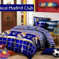 Bedcover Set Katun Motif Real Madrid/ Queen 160x200x30