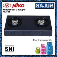 Niko NK-555 Kompor Gas 2 Tungku Bahan Teflon