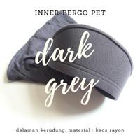 Inner bergo pet / dalaman kerudung / ciput topi - kaos rayon