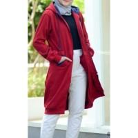 Jaket muslimah Hijacket Basic Maroon size XL original